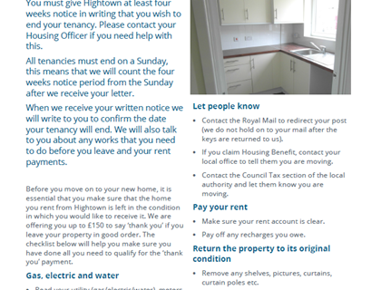 Before you move out leaflet
