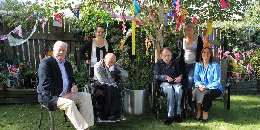 M Bailey Chair Board visit Sept 12 London Olympic garden Trinity Court.jpg