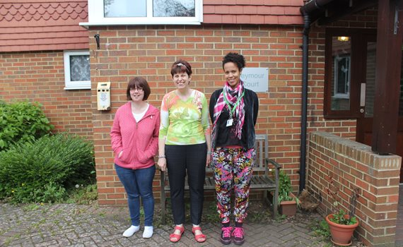 Seymour Court residents and staff May 2015.jpg